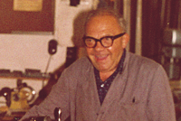 Company founder Werner Schoder in the workshop